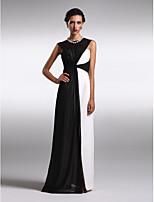 TS Couture Formal Evening Dress - Multi-color Plus Sizes / Petite Sheath/Column Bateau Floor-length Chiffon