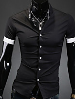 Men's Long Sleeve Shirt , Polyester Casual / Work / Formal Pure