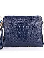 Handbag Faux Leather Crocodile Pattern Evening Handbags With Feather/Fur/Metal