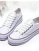 Women's Shoes Canvas Platform Closed Toe Fashion Sneakers Casual Black/Blue/Red/White