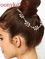Toonykelly Fashion Gold Leaves Hair Jewelry Hair Combs Piece For Women (1 Pc)