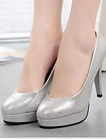Women's Shoes Stiletto Heel Round Toe Pumps/Heels Dress Silver/Gold