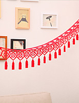 Chinese Hi Word Non-woven Blankets Marriage Room Decoration Garland