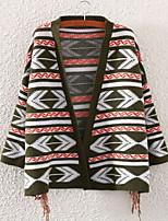 Fashion Women's Casual/Work Micro-elastic Medium Long Sleeve Shrug (Knitwear/Cotton Blends)