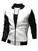 Men's Casual Long Sleeve Regular Jacket (Cotton)