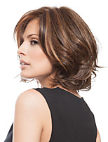Fashion Capless Short Wavy Synthetic Highlight Wig
