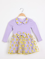 Girl's Cotton Blend/Organza Dress , Summer Long Sleeve