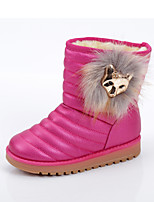 Girls' Shoes Outdoor/Dress/Casual Snow Boots/Round Toe/Closed Toe Faux Boots Brown/Pink/Red