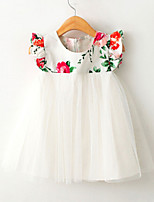 Girl's Cotton/Mesh/Polyester Dress , Summer/Spring/Fall Short Sleeve