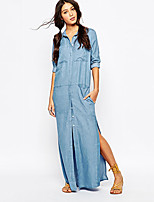 Women's American Apparel Fashion Loose With Six Pockets Split Cowboy Dress