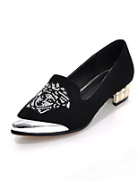 Women's Shoes Faux Suede Low Heel Pointed Toe/Closed Toe Flats