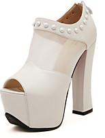 Women's Shoes Faux Leather Platform Peep Toe/Platform Sandals Casual Black/White