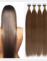 3Pcs/Lot 2.5G/S 100G/PC Straight PU Skin Weft/Tape Hair Fusion Hair Extension Virgin Keratin Capsule Hair In Stock