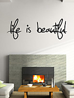 Wall Stickers Wall Decals Style Love Is Beautiful English Words & Quotes PVC Wall Stickers