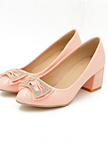 Women's Shoes Synthetic Chunky Heel Heels/Basic Pump Pumps/Heels Office & Career/Dress/Casual Black/Pink/White