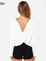 Damen T-Shirt Polyester/Baumwoll-Mischung Langarm