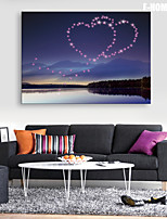 e-Home® sträckt ledde kanfastryck konst kärlek i himlen land ledde blinkande optisk fiber print