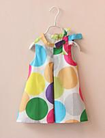Summer Colorful Dot Bow Vest Princess Dress