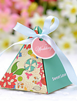 20 Piece/Set Favor Holder - Pyramid Card Paper Favor Boxes Non-personalised