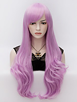 70cm Long Wavy Anime Cosplay Party Women Lady Sexy Harajuku Wig Long Party wigs Lilac