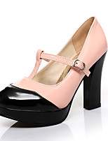 Women's Shoes Faux  Chunky Heel Heels/Round Toe/Closed Toe Pumps/Heels