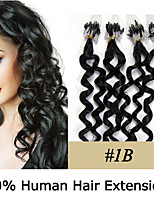 20 inch Remy Micro Ring/Loop Hair Curly 0.5g/s Human Hair Extensions 8 Colors for Women Beauty
