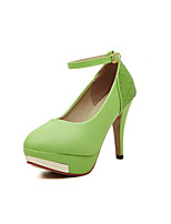 Women's Shoes  Stiletto Heel Heels/Round Toe Pumps/Heels Casual Black/Green/White