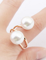 Europe And The United States Exaggerate Pearl Alloy Ring