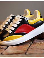 Girls' Shoes Athletic/Casual Round Toe  Fashion Sneakers Yellow/Red
