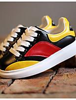 Sneakers a la Moda ( Amarillo/Rojo ) - Punta Redonda - Semicuero