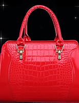 WEST BIKING® The New Patent Leather Crocodile Pattern Women's Handbags Wild Shoulder Handbag Shell Type