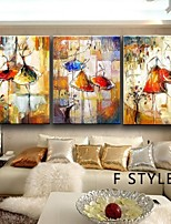Hand-Painted Ballet Dancer Canvas Painting Art  Oil Painting on Canvas  3pcs/set No Frame