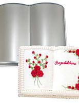 Vier c Buchform Aluminium Kuchenbackform Schimmel, Backen liefert für Kuchen, Backform Backformen Metall