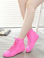 Chaussures Femme Tissu Talon Plat Confort Bottes Extérieure Noir/Jaune/Rose/Blanc