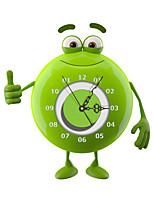 Modern 3D Effect Green Bean Man Wall Clock 15.7*16.81 inch / 40*42.7cm