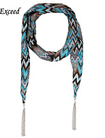 D Exceed  Women's Multifuction Boho Chiffon Arrow Long Necklace Scarves Jewellery with Tassles