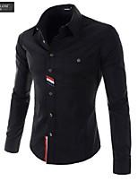 JESUNLOM®Man's Shirt Fashion Korean Style Long Sleeve Hot Slim Shirt Young Man Casual Top Shirt