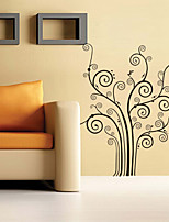 Wall Stickers Wall Decals Style Black Flower Tree PVC Wall Stickers