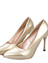 Women's Shoes Faux Leather Stiletto Heel Heels Pumps/Heels Wedding Silver/Gold