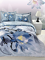 Light Blue Polyester/Poly/Cotton King Duvet Cover Sets