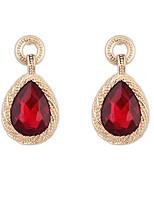 Women's Imitation Gemstone Water Droplets Acrylic Drop Earrings