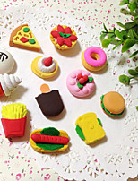 Fruits Delicious Cake Eraser Set Novelty Kids Toy Gift Cartoon Stationery (Random Color)