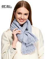 LA BEAU 4 Color Women Solid Color Warm Fringed Scarf Shawl Wrap