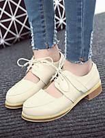 Women's Shoes Chunky Heel Round Toe Pumps/Heels Dress Black/Beige