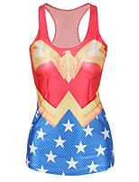 Super Hero Wonderful Woman Swimwear Cosplay Costumes