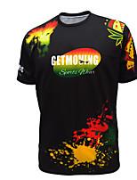 GETMOVING   Men's Casual/Sport Print Short Sleeve Regular T-Shirt (Knitwear)