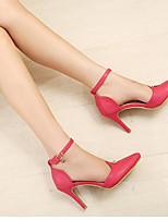 Women's Shoes Faux Leather Stiletto Heel Heels Pumps/Heels Outdoor/Casual Black/Red