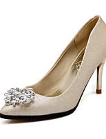 Women's Shoes  Leather Stiletto Heel Heels/Pointed Toe/Closed Toe Pumps/Heels Office & Career/Dress/Casual Silver/Gold