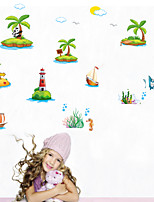 Wall Stickers Wall Decals Style Panda Climbing Coconut Tree PVC Wall Stickers