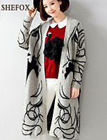 Women's Casual Stretchy Thick Long Sleeve Cardigan (Knitwear) SF7D04